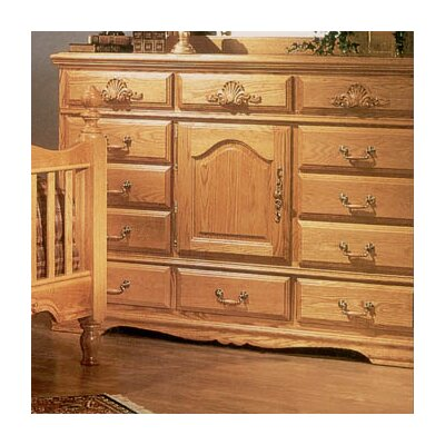Bebe Furniture Country Heirloom 12 Drawer Oversized Combo Dresser