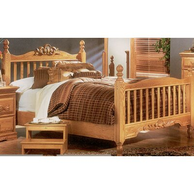 Bebe Furniture Country Heirloom Wood Side Rail and Metal Center Support