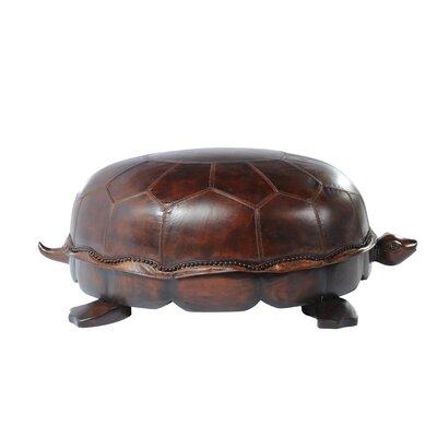Lazzaro Leather Leather Franklin Turtle Ottoman
