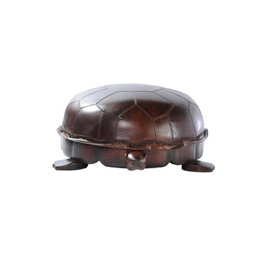 Lazzaro Leather Turtle Ottoman