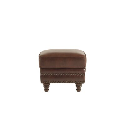 Canora Grey Franciscan Leather Ottoman