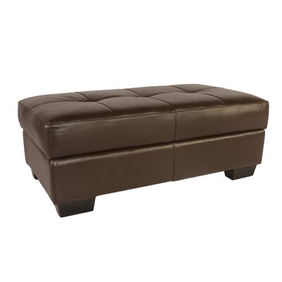 Lazzaro Leather Frandis Leather Storage Ottoman
