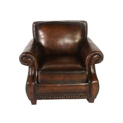 Lazzaro Leather Prato Leather Armchair