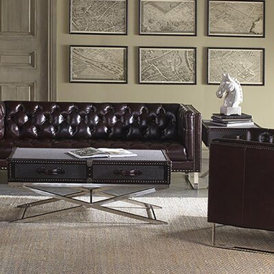 Lazzaro Leather Hamilton Coffee Table ..