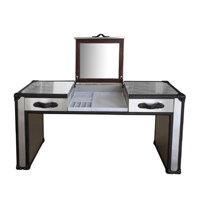 Lazzaro Leather Dietrich Vanity with Mirror