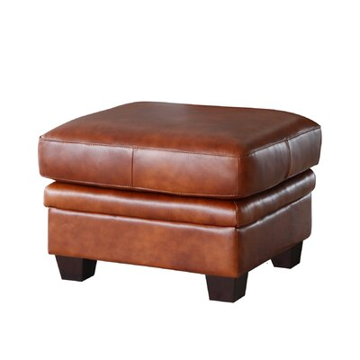 Lazzaro Leather Aberdeen Leather Ottoman