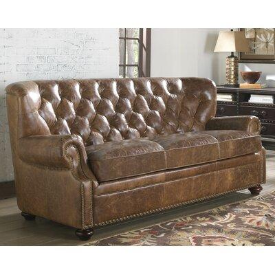Lazzaro Leather Louis Leather Sofa