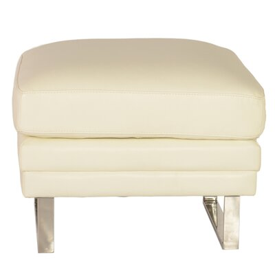 Lazzaro Leather Melbourne Leather Ottoman Image