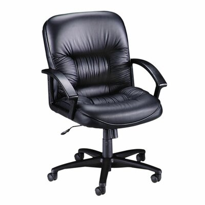 Lorell Mid-Back Leather Executive Chair with Arms Image