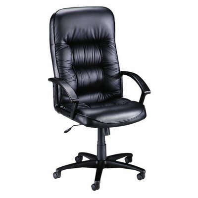 Lorell High-Back Leather Executive Chair with Arms