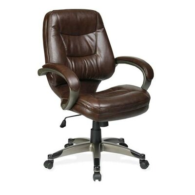 Lorell Westlake Mid-Back Managerial Chair with Arms