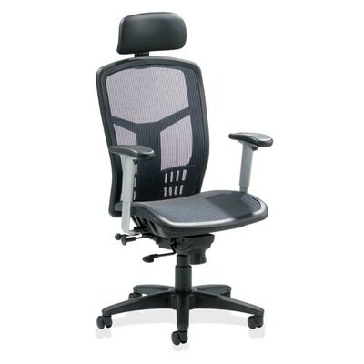 Lorell High-Back Mesh Conference Chair with Arms