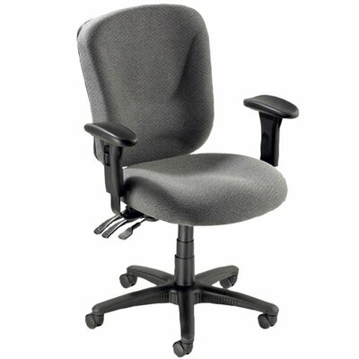 Lorell Lorell Accord Series Mid-Back Task Chairs, Black