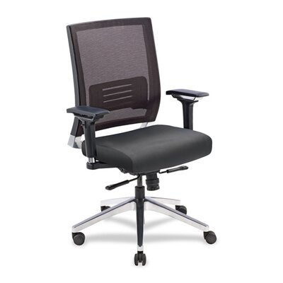 Lorell Mid-Back Conference Chair with Swi..