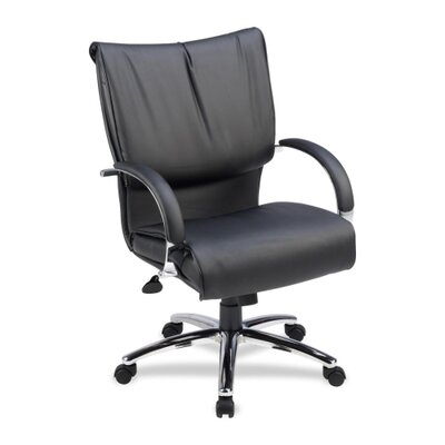 Lorell Mid-Back Leather Conference Chair