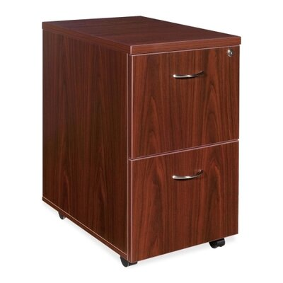 Lorell 2-Drawer File/File Mobile Pedestal