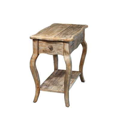 Alaterre Simplicity Driftwood Chairside Table