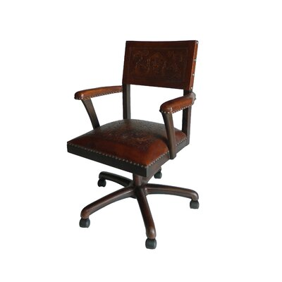 New World Trading Colonial Mid-Back Leather Office Chair