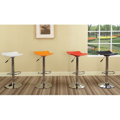 InRoom Designs Adjustable Height Swivel Bar Stool