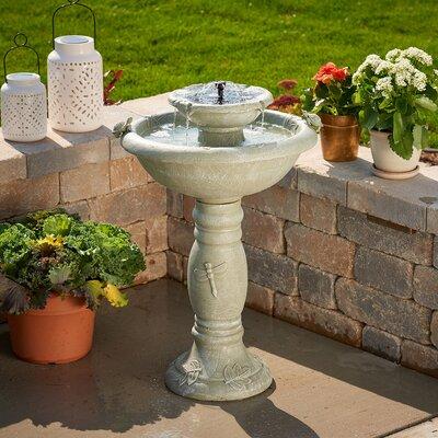 smart solar resin solar country gardens two tier on demand fountain u0026 reviews wayfair - Solar Powered Fountain