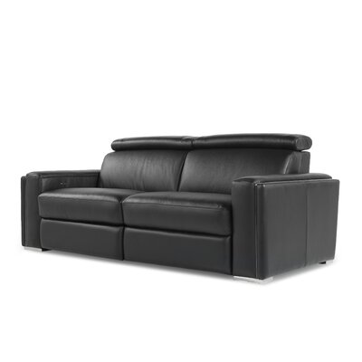 Moroni Ellie Full Top Grain Leather Loveseat