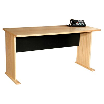 Rush Furniture Modular Real Oak Wood Veneer Furniture Panel Desk Shell