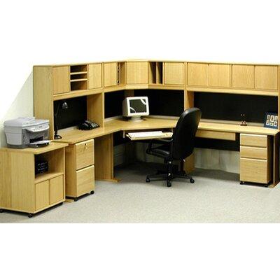 Rush Furniture Office Modulars Corner Desk with Machine Cart