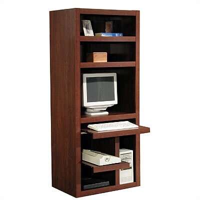Rush Furniture Charles Harris Computer Desk with Armoire
