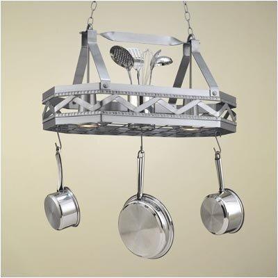 Hi-Lite Sonoma 8 Sided Hanging Pot Rack with 2 Lights ...
