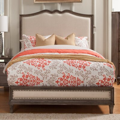 Alpine Furniture Charleston Upholstered Panel Bed
