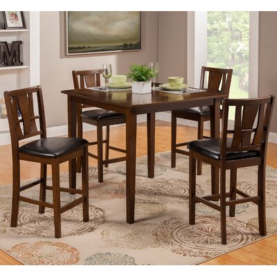 Red Barrel Studio Geissler 5 Piece Counter Height Dining Set
