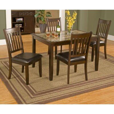 alpine furniture capitola 5 piece dining set & reviews | wayfair