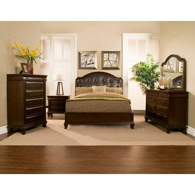 Alpine Furniture Beaumont Panel Customizable Bedroom Set