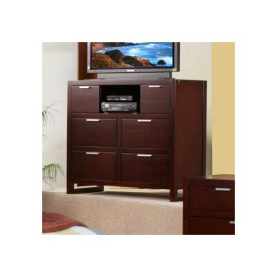 Alpine Furniture Urban 6 Drawer Media Chest