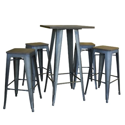 Buffalo Tools AmeriHome Loft 5 Piece Dining Set