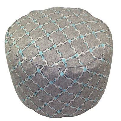 lava Lattice Round Pouf Ottoman