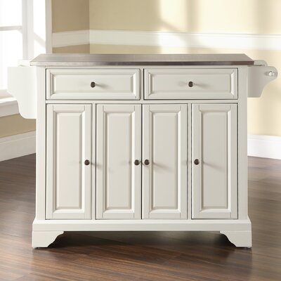 kitchen island with stainless steel top crosley lafayette kitchen island with stainless steel top 27119
