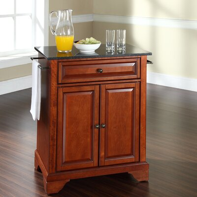 Crosley LaFayette Kitchen Cart with Granite Top