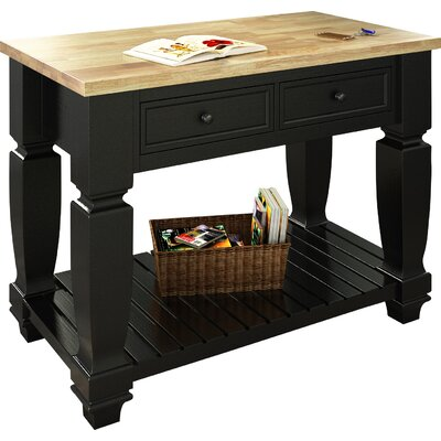 Lanza Chelsea Kitchen Island with Wood Top