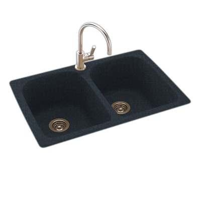 Swanstone 33 X 22 Double Basin Drop In Kitchen Sink Reviews Wayfair