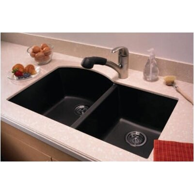 Swanstone swanstone classics 32 x 21 undermount double for Swanstone undermount sinks