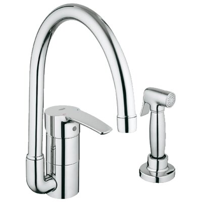 Grohe Eurostyle Single Handle Single Hole Standard Kitchen Faucet With Side S