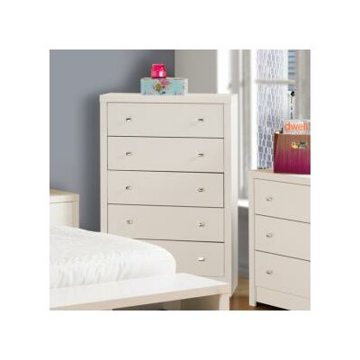 Prepac Calla White 5 Drawer Chest