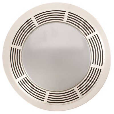 Broan Round 100 Cfm Exhaust Bathroom Fan With Light And