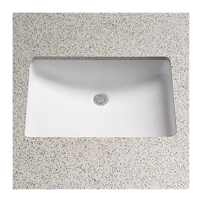 Toto Augusta Decorative Ceramic Rectangular Undermount Bathroom Sink - Under counter bathroom sinks