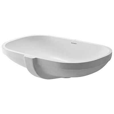 Bathroom Sinks Oval duravit d-code oval undermount bathroom sink with overflow