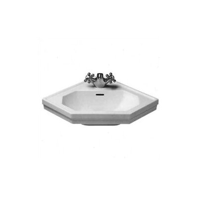 duravit 1930 series wall mount corner sink reviews wayfair. Black Bedroom Furniture Sets. Home Design Ideas