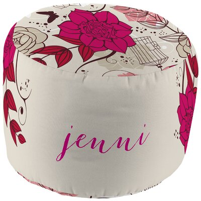Checkerboard, Ltd Funky Floral Personalized Pouf