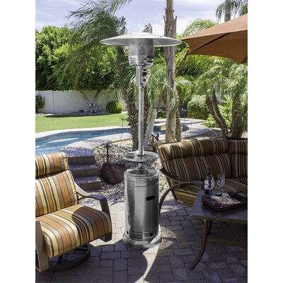 AZ Patio Heaters Tall Stainless Steel 41,000 BTU Propane Patio Heater U0026  Reviews | Wayfair