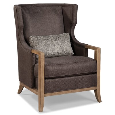 Fairfield Chair Wood Trimmed Transitional Wing A..